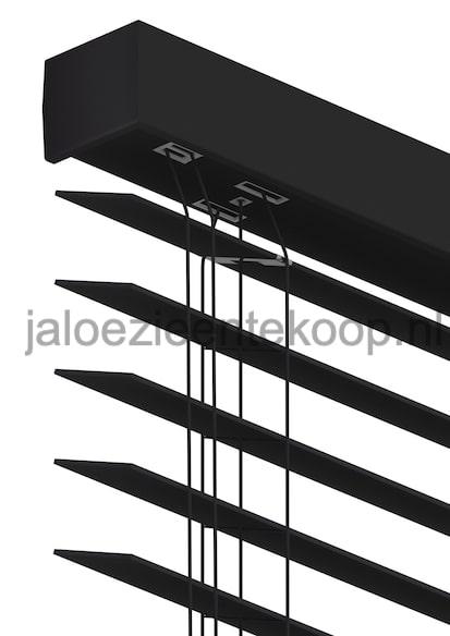 houten jaloezie zwart