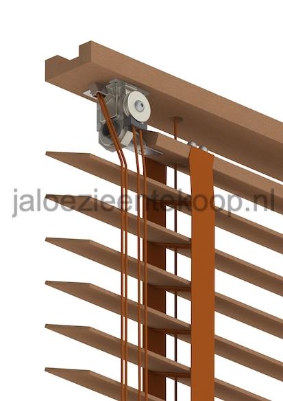 retro houten jaloezie