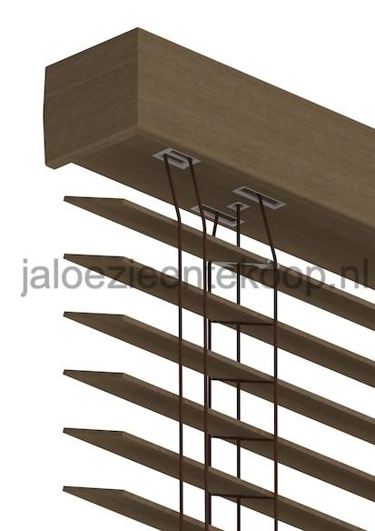 bamboe jaloezie kastanje