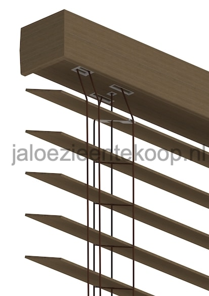jaloezie bamboe kastanje