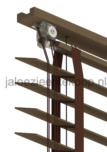 bamboe kastanje jaloezie