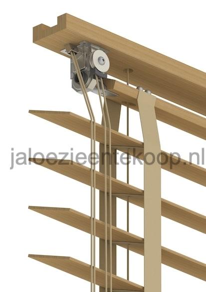 bamboe eiken jaloezie