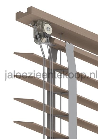 bamboe taupe jaloezie